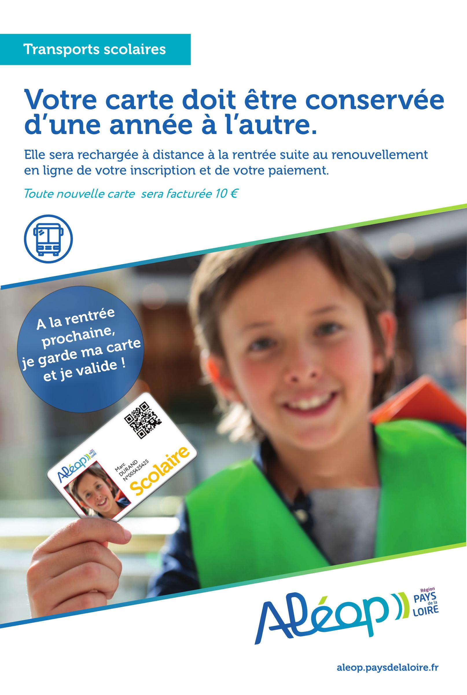 ALEOP : Inscription aux transports scolaires